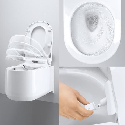 Sensia arena shower toilet wc con funzione bidet integrata for Wc bidet integrato
